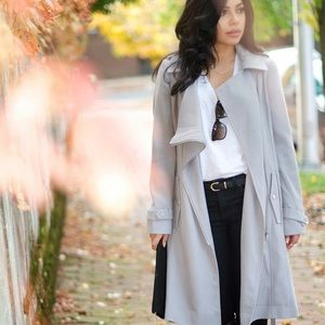 Jackets & Blazers - ASOS GREY TRENCH COAT